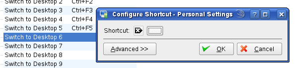 desktop 6 shortcut