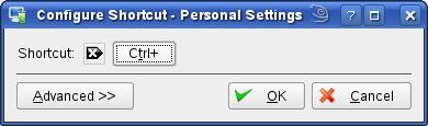 Geef de toetscombinatie in (volg op het scherm)