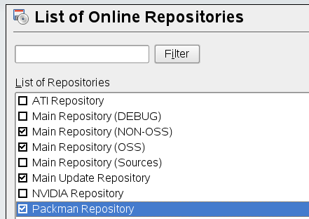 opensuse103 Yast Online repositories