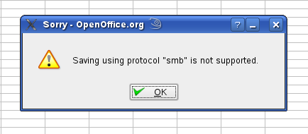 smb not supported in OpenOffice.org
