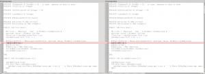 Vergelijk twee broncodebestanden