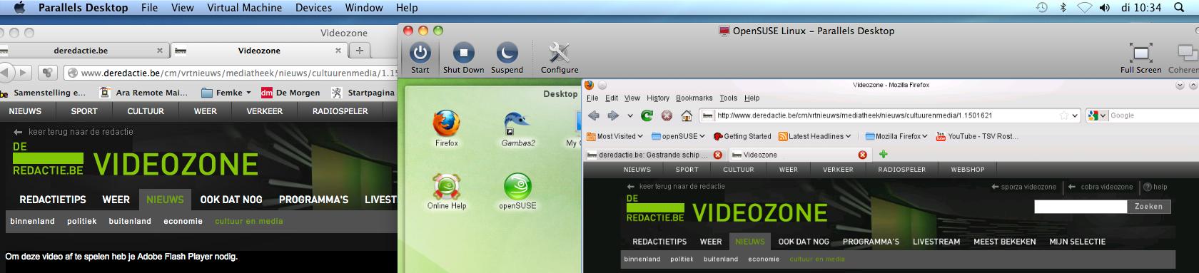 ParallelsDesktop op Mac draait Linux