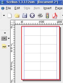 Schermafbeelding Scribus Labels