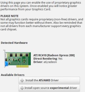 Schermafbeelding: FRW3-GraphicsDrivers