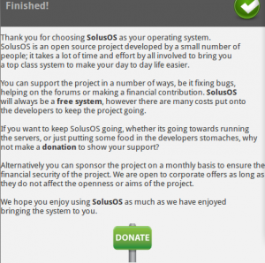 Schermbeeld: Finish, Donate
