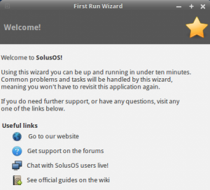 Schermafdrukk: FirstRunWizard-Welcome