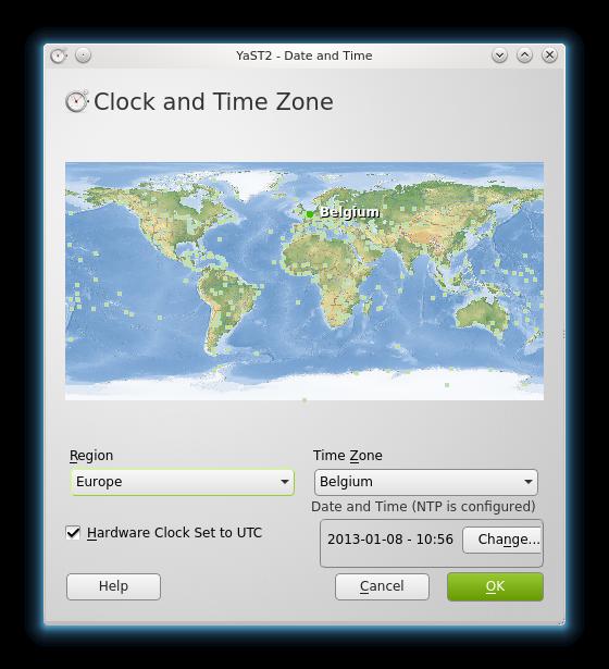 Tijdszone instellen op KDE